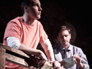 "Andrew Lynch and Mark McCabe in ""Death Row Cowboy"""